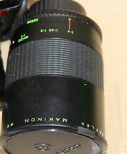 Reflex Makinon MC 8/500 mm No.834495 used on minolta