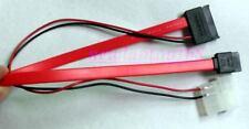 New SATA 13Pin slim DVD Burner Drive to SATA 7pin power Cable Zender adapter