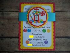 Candy Land Birthday Invitations, Sweet Candy Invitations