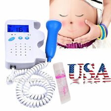 USA Fetal Doppler Heart Detector Baby Sound Beat Rate Monitor 3Mhz Probe Women