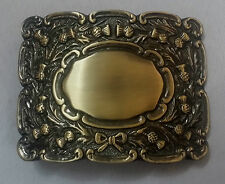 Men's Thistle Matt Kilt Belt Buckle Antique Finish/Kilt Belt Buckle Thistle