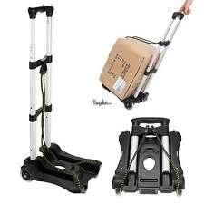 Folding Hand Truck Portable Dolly Utility Cart Trolley Aluminum Push Luggage New