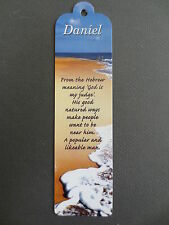 Name BOOKMARK DANIEL Meaning Personalised Birthday Easter Valentine Gift DAN