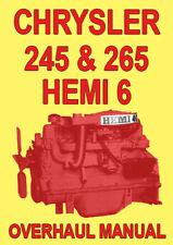 CHRYSLER 245 & 265 HEMI 6 ENGINE OVERHAUL MANUAL