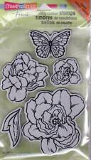 New Stampendous RUBBER STAMP cling JUMBO lovely garden set flower template