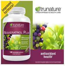 trunature® Maximum Strength Resveratrol Plus 250 mg 140 Vegetarian Capsules