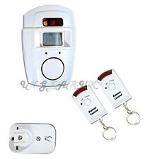 Wireles motion sensor alarm kit PIR + remote control Battery operated shed / van
