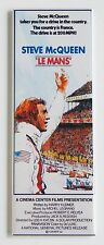 Le Mans FRIDGE MAGNET (1.5 x 4.5 inches) insert movie poster steve mcqueen