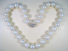 LADIES 14kwg 12.5 mm - 14 mm NATURAL SOUTH SEAS PEARL & .70 CTW DIAMOND NECKLACE