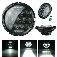 "7"" LED Black Daymaker Projector Headlight Fit Harley Street Glide FLHX Touring"