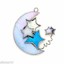 Celestial Moon and Stars Switchables Sun Catcher or Stained Glass NEW SW057
