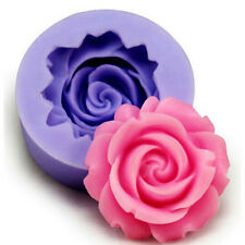 Silicone 3D Rose Flower Fondant Cake Chocolate Sugarcraft Mold Cutter Tool Mould