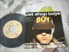 "a941981 Pet Shop Boys 7"" Love Comes Quickly Made in Japan"