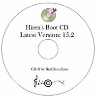 Hiren's Boot CD 15.2 Test Diagnose Repair Restore Laptop PC Windows 7 8 XP Vista