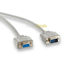 SERIAL EXTENSION CABLE LEAD 9 PIN DB9 M - F RS232 2m