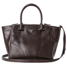 Auth Prada Topstitched City Calf Leather Twin Pocket Bag M #COD PAYPAL LUV17