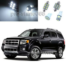Xenon White LED Interior 14PCS Lights Plate Package for Ford Escape 2008 2012