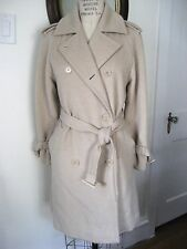 MAX MARA Camel Hair Double Breasted Belted Trench Coat, Size US 2, Made in Italy