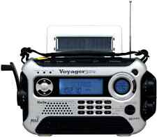 Kaito Voyager Pro Digital Hand Crank AM FM Emergency Radio w/Flashlight, Silver