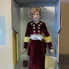 Franklin Mint Princess Diana Doll Porcelain Princess Of Loveliness Sealed COA