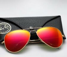 Ray Ban Sunglasses RB3025 112/69 Gold/Flash Orange Lens 58mm ITALY/