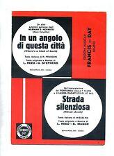 IN UN ANGOLO DI QUESTA CITTÀ-STRADA SILENZIOSA # Spartito Francis-Day # Fortunes
