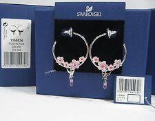 Swarovski Cherry Blossoms HOOP PIERCED Boucles d'Oreilles Tinker Bell 1155534 cristal rose