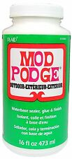 16oz OUTDOOR MOD PODGE GARDEN ORNAMENT WOOD CONCRETE CRAFT GLUE VARNISH SEALER
