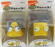 2 SpongeBob PONTIKI Portable POD Pal Toy Figure Geometric Shapes Build NEW