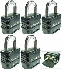 Combination Lock Set by Master 1178D (Lot 5) Resettable Weather Sealed Carbide