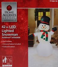 "Airblown Inflatable Snowman LED 42"" NEW Christmas Yard Decoration"