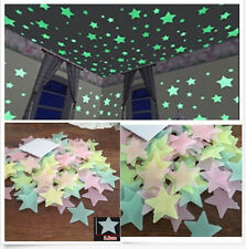 100x Home Wall Ceiling Large Glow In The Dark Stars Stickers Decal for Baby Kid