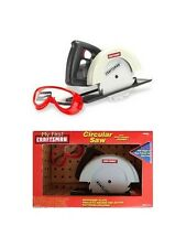 MY FIRST CRAFTMAN CIRCULAR SAW WITH ELECTRONIC SOUNDS & LIGHT W/ GOGGLES NEW