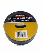 Anti Slip Grip Tape Black 4m meter x 20mm wide Self Adhesive Safety Non Slip New