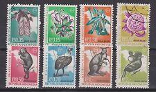 Indonesie Indonesia Irian Barat West Irian 21-28 used 1968 Bloemen en dieren