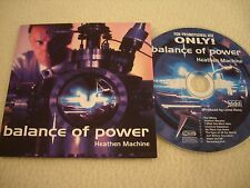 BALANCE OF POWER - Heathen Machine Promo CD Massacre Records 2003