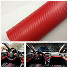 Car SUV Interior Handle Console Red Carbon Fiber Wrap Vinyl Film Decal Sticker