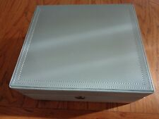 Pottery Barn MCKENNA LEATHER MEDIUM JEWELRY BOX-BLUE COLOR-NEW