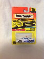Matchbox CAMARO POLICE PURSUIT White 1997-59/75  MOC SUPERFAST Series