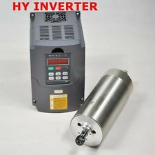 1.5KW 80MM DIA WATER COOLED CNC SPINDLE MOTOR ER11+1.5KW 220V VFD INVERTER DRIVE