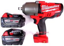 "New Milwaukee FUEL 2763-20 18V 1/2"" Impact Wrench,(2) 48-11-1850 5.0 Battery M18"