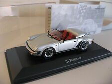 Silver Minichamps 1989 Porsche 911 Speedster 1:43 Dealer Item Limited Edition