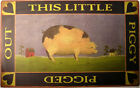 This Little Piggy Rustic Country Primitive Farm Animal Metal Sign