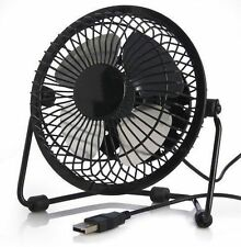 Mini USB Portable Powered Desktop Cooling Desk Fan Black ( Steel Blades )