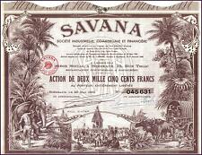 France Colonial Pondicherry Bond 1952 SAVANA 250 f DECO