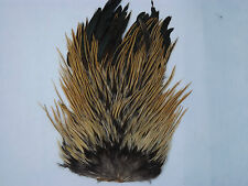 Natural Badger Cock Saddle cape,fly tying materials, Feathers, Craft.
