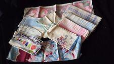 Vintage Cotton Handkerchiefs, Lot of 11