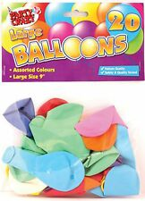 "20 Large Balloons 9"" Helium Quality Children's Birthday Party Bag Fillers Kids"
