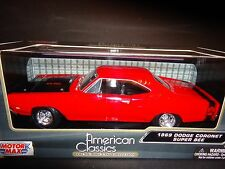 Motormax Dodge Coronet Super Bee 1969 Red 1/24