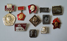 Soviet propaganda Communism Lot of 11 Lenin anniversary pin badge USSR komsomol